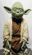 Yoda from the Star Wars trilogy