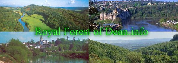 Tourist Information and Travel Destination Guide to Royal Forest of Dean, Wye Valley, Vale of Leadon and the Severn Vale, Herefordshire and Monmouthshire including places to visit and accommodation in hotels, bed and breakfast (b&b), Inns and Pubs, Self-Catering Holiday Cottages, Caravan and Camping