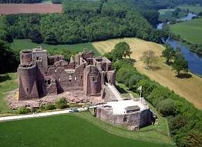 Goodrich Castle in Herefordshire