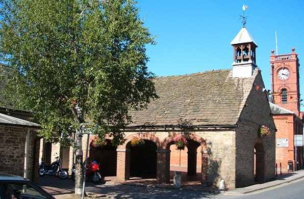 Kington Market Hall erected in the year 1654