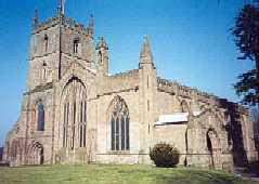 The 11th Century Priory Church in Leominster in the county of Herefordshire