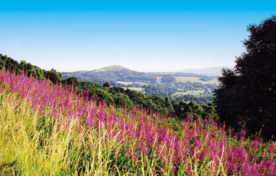 The Malvern Hills in Herefordshire and Worcestershire England