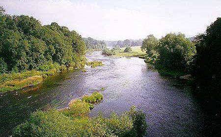 The River Wye which runs through Herefordshire