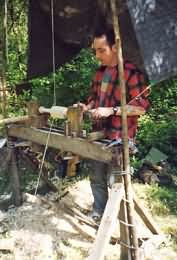 pole lathe turning in action