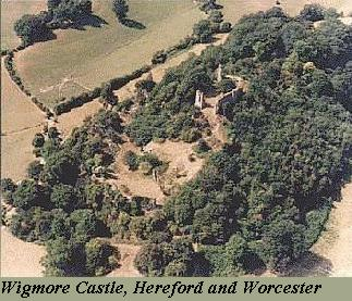 Wigmore Castle in Herefordshire
