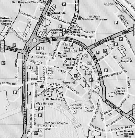 Hereford Town Map