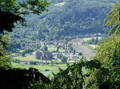 Tintern Viewed From Devils Pulpiit