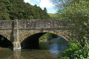 The Bridge across the River Arrow at Aymestry in Herefordshire