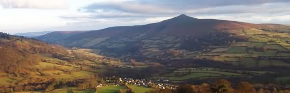 The Sugar Loaf is a mountain situated north-west of Abergavenny in Monmouthshire