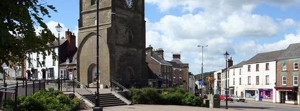 Coleford Town Centre in the Royal Forest of Dean
