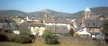 The town of Abergavenny