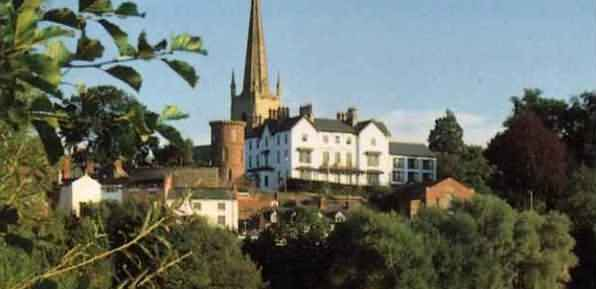 Ross-on-Wye town in the Royal Forest of Dean